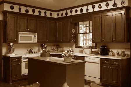 Kitchen e-mail sepia