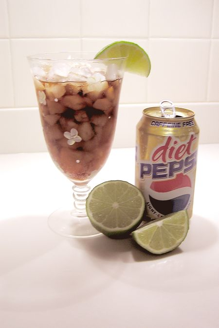 Caffeine free diet pepsi with lime