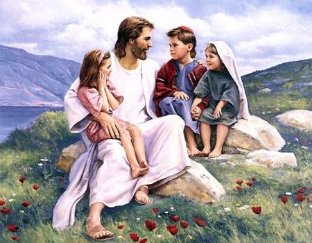 Jesus Smiling With Children