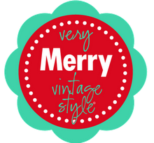 Very Merry Vintage Style Button 2