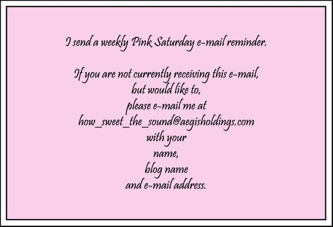 Pink Saturday - April 14, 2012