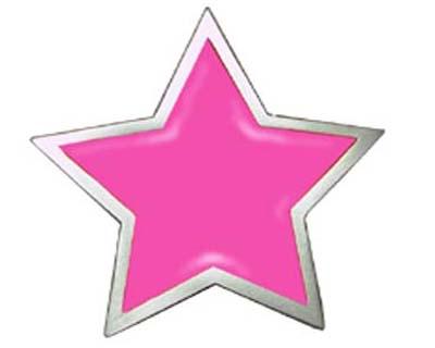Pink star cutout
