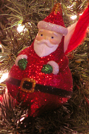 Sparkly Santa Ornament edit email