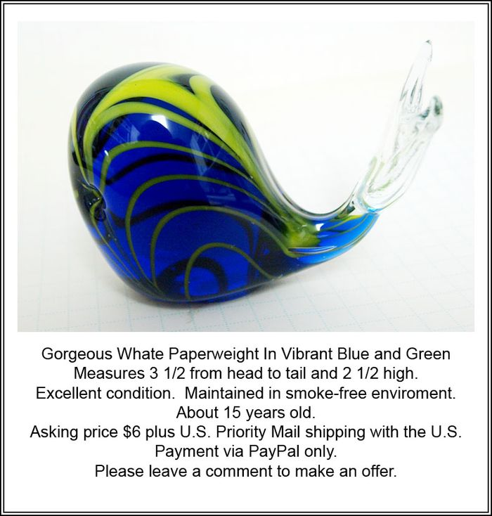 Whale Paperweight ad