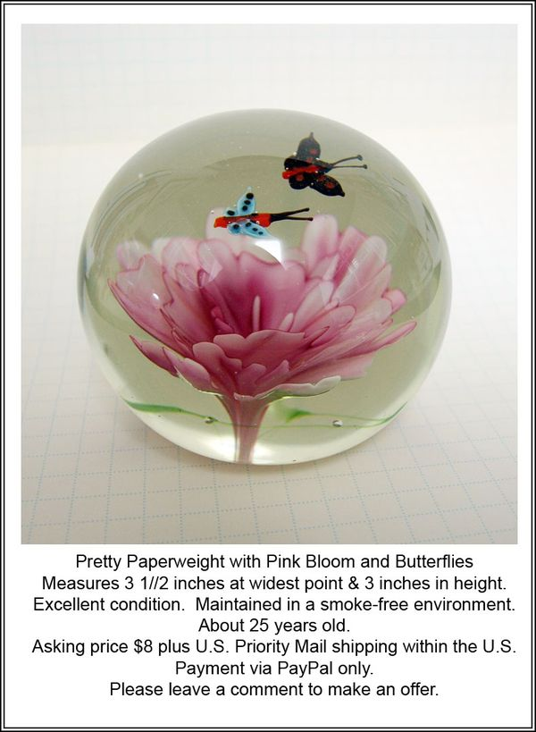 Butterfly Paperweight ad