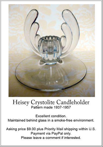 Heisey Candleholder ad