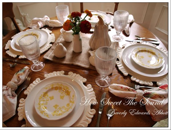 Autumn tablescape 2