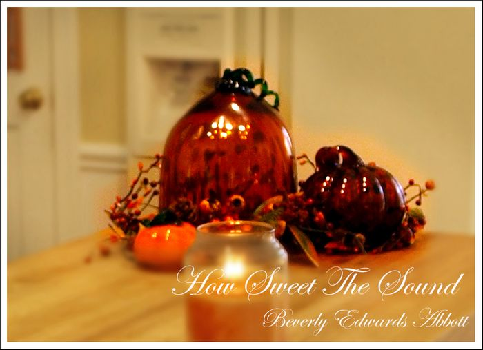 Autumn Kitchen Island Pumpkins