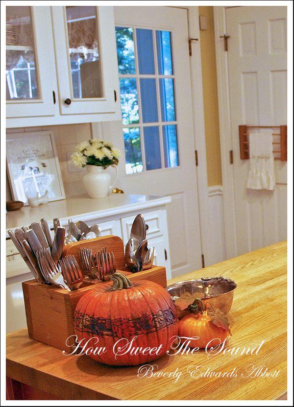 Autumn Kitchen Island More Pumpkins