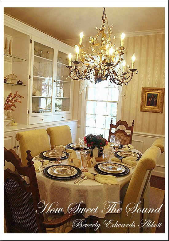 Thanksgiving Dining Room Tablescape 2