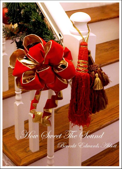 Christmas Stairs Bows & Tassels