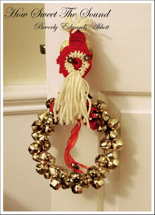 Christmas Foyer Vintage Doorknob Cover