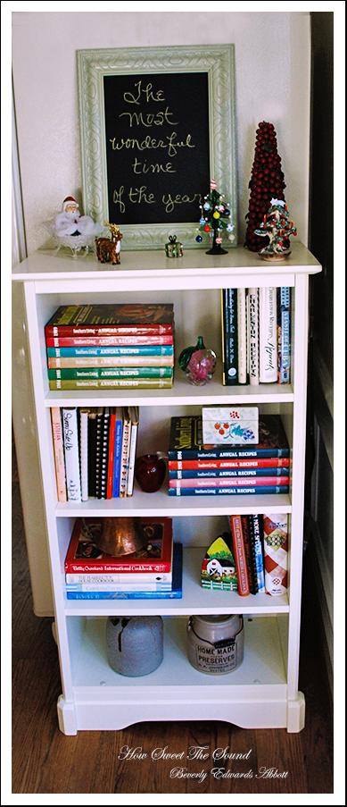 Christmas Breakfast Room Bookcase