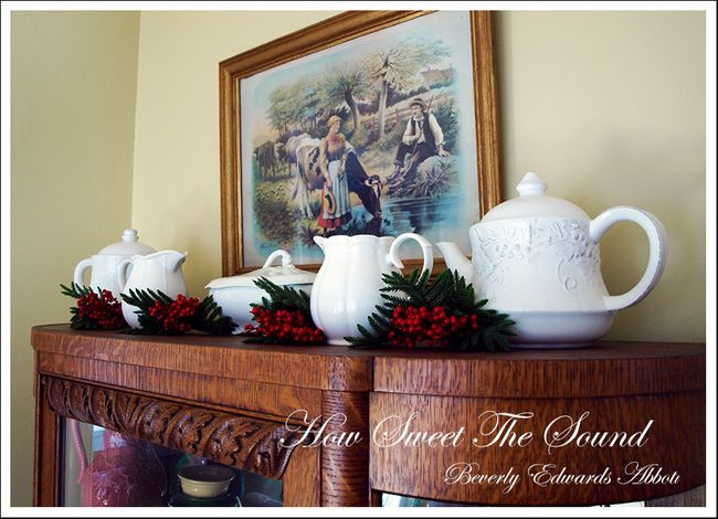 Christmas Breakfast Room Ironstone All In A Row