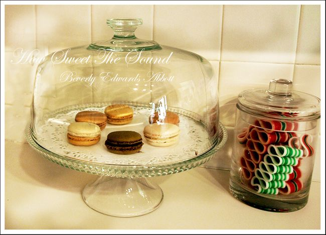 Christmas Kitchen Macarons and Ribbon Candy