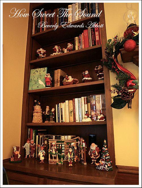 Christmas Family Room Built In Left
