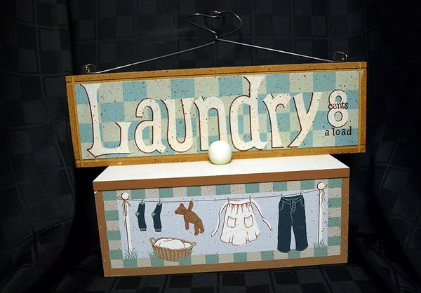 Laundry Sign and Box