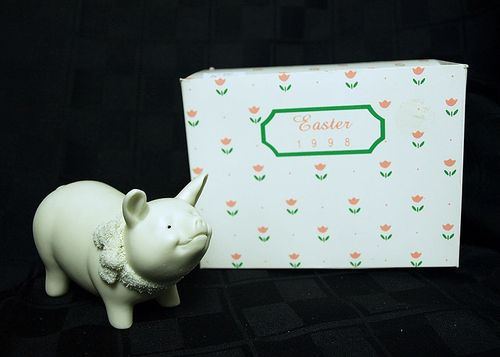 Department 56 Easter Pig 1998