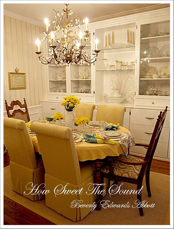 Easter Tablescape Dining Room