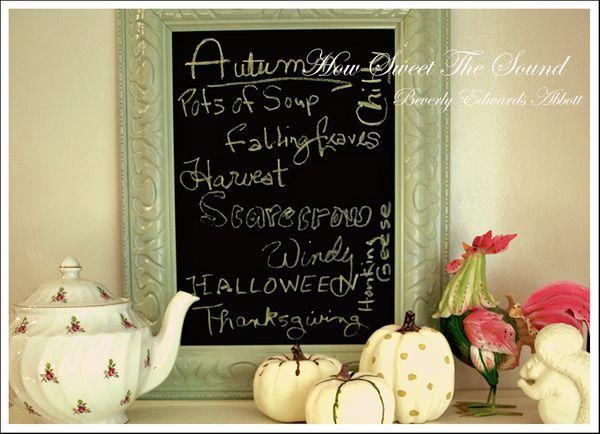 Autumn Breakfast Room Chalkboard