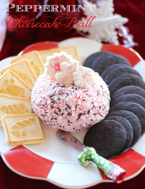 Peppermint Cheesecake Ball