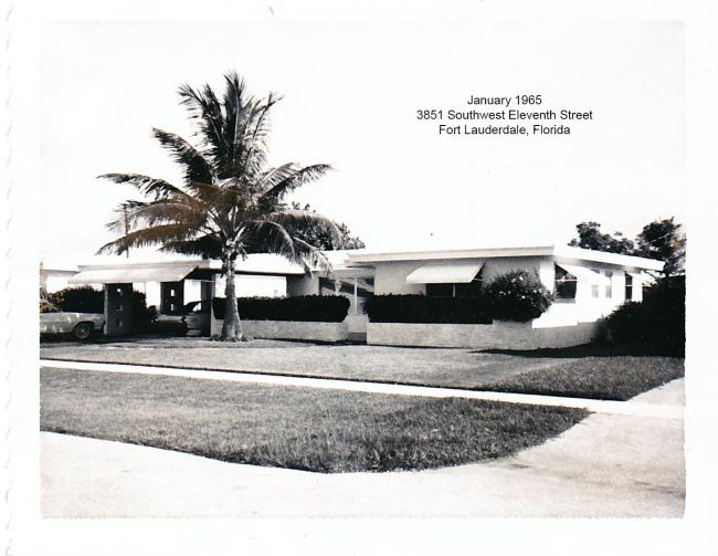 (10) 3851 Southwest 11th Street Fort Lauderdale Florida January 1965