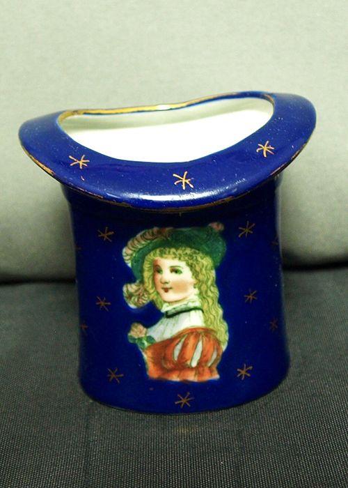 Cobalt Blue Portrait Hat Vase