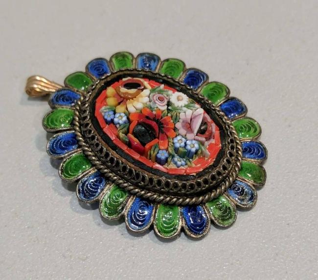 Micro Mosaic Italian Pendant