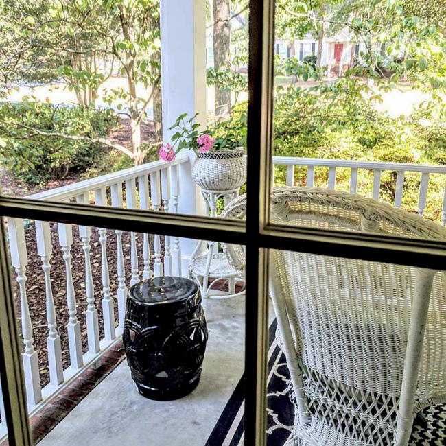 Front Porch through window