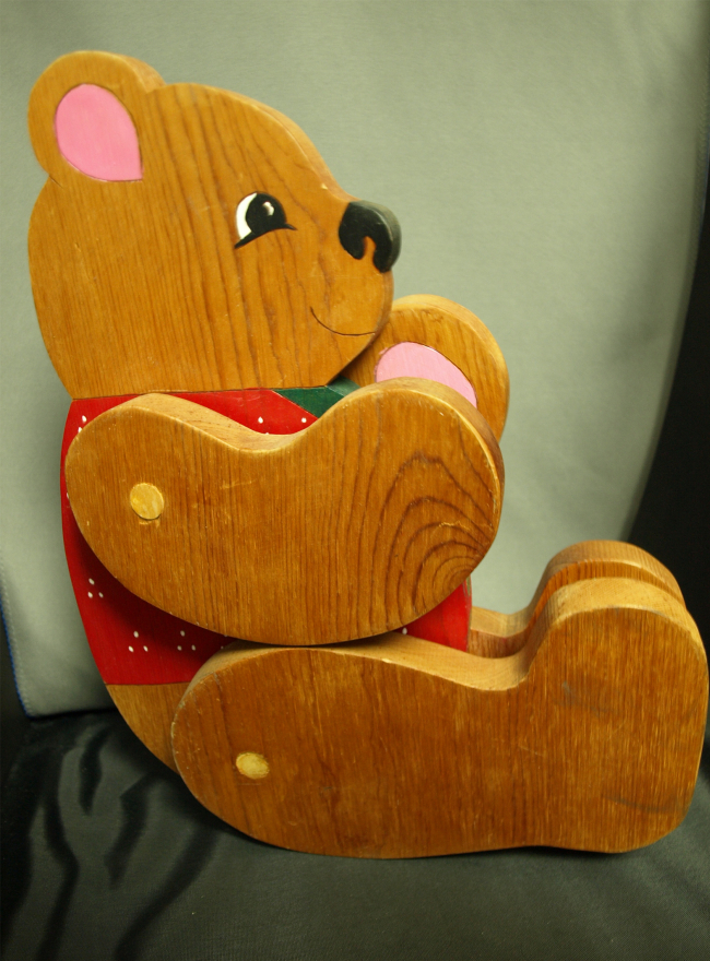 Wood Hinged Bear