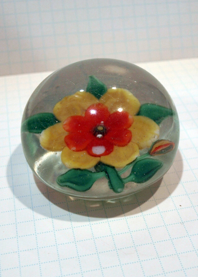 Chinese Flower Paperweight